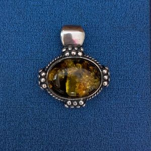Jewelry - Sterling Silver Amber Pendant